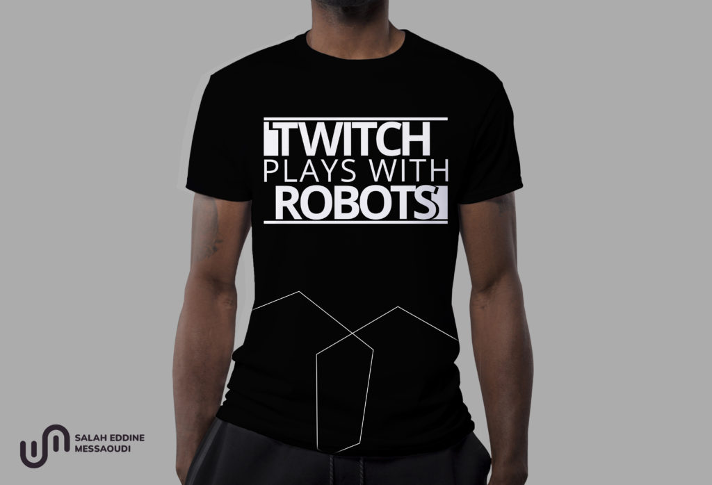 Twitch Plays with Robots Branded Tshirt Design